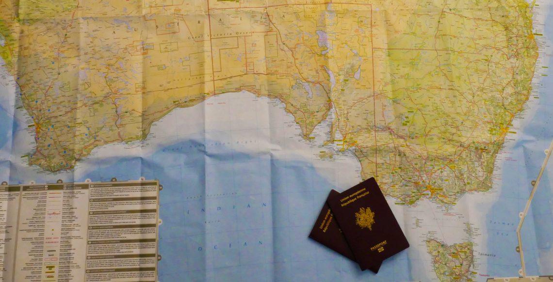 Carte Australie Passeport Voyage