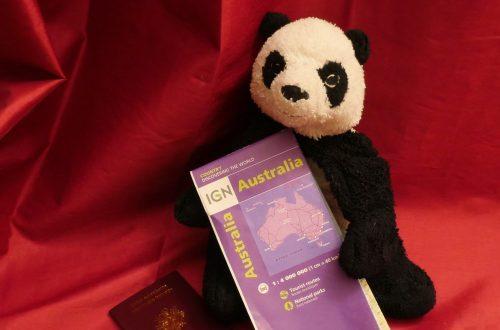 Panda Passepors Carte de l'Australie